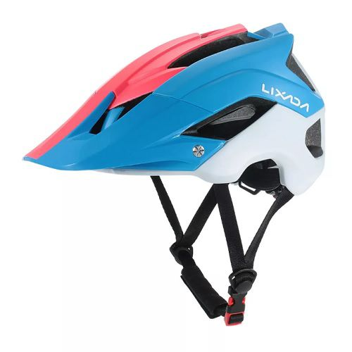 Capacete Ciclismo MTB Bike Mold Lixada Red/Blue 56 a 62cm