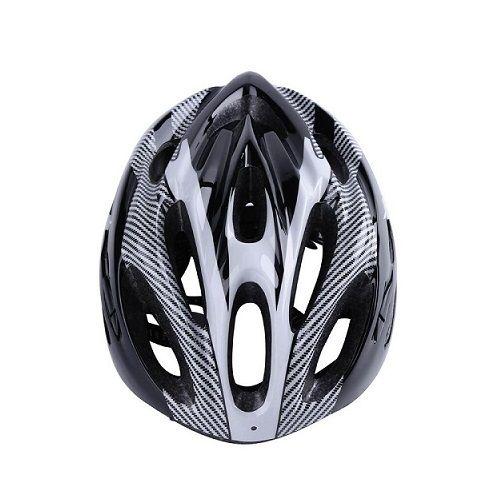 Capacete Ciclismo MTB Preto Branco  - Casafaz