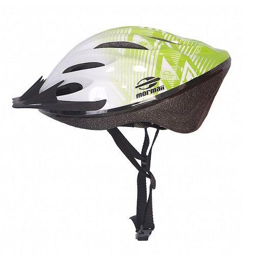 Capacete Ciclismo Triad Mormaii Verde Claro Branco M