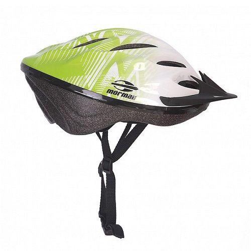 Capacete Ciclismo Triad Mormaii Verde Claro Branco M   - Casafaz