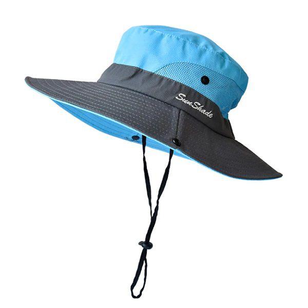 Chapéu De Praia Sun Shade Proteção UV UPF50+  - Casafaz