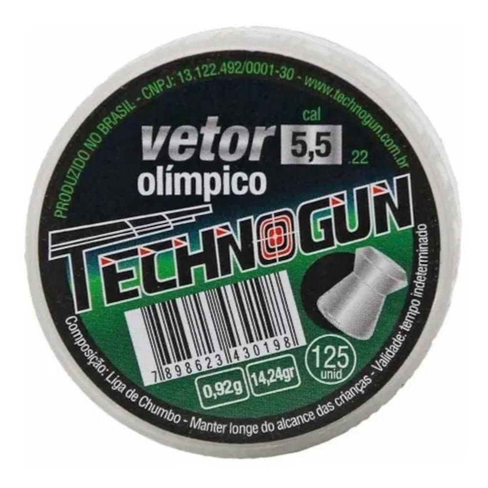 Chumbinho Carabina Technogun Vetor Olímpico 5,5mm 125