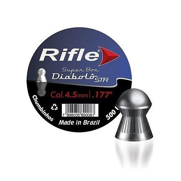 Chumbinho Para Carabina De Pressão Rifle Diabolô STR 4.5 mm 500 Unidades