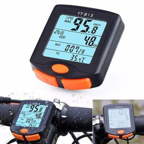 Ciclocomputador Odômetro Bicicleta Bike Multi Funções Com Fio YT-813  - Casafaz