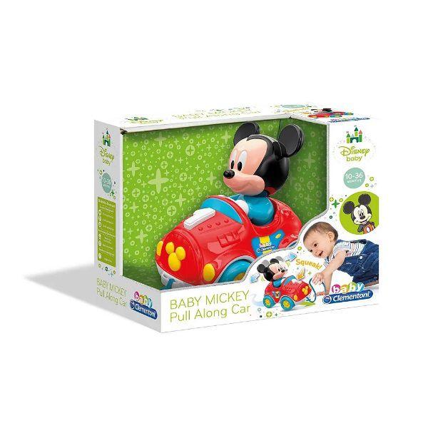 Clementoni Baby Mickey Brinca Comigo Carrinho Com Corda para Puxar Multikids - BR818