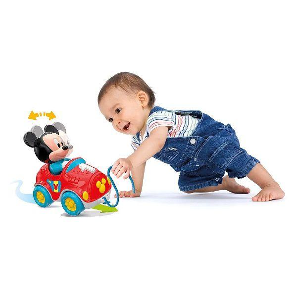 Clementoni Baby Mickey Brinca Comigo Carrinho Com Corda para Puxar Multikids - BR818  - Casafaz