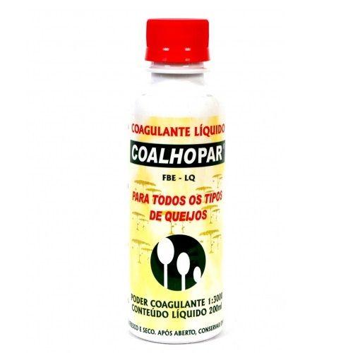 Coalho Coalhopar Liquido 200ml Para Fabricação De Queijo   - Casafaz