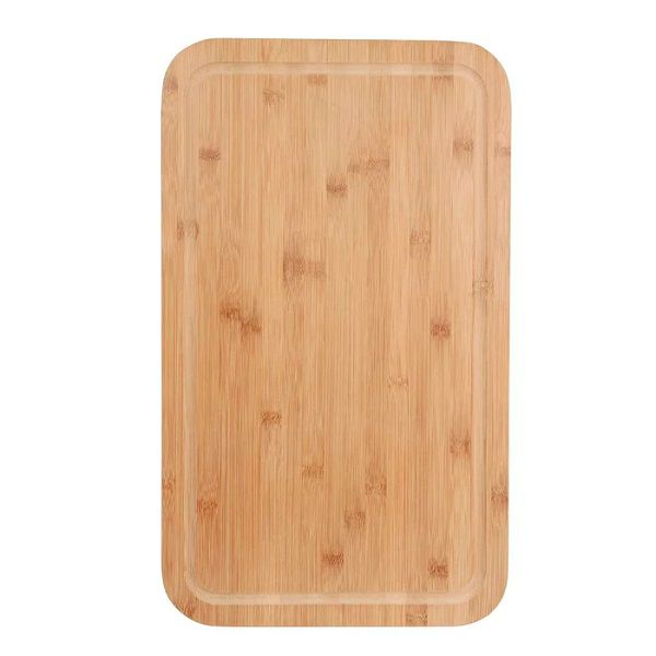 Conjunto Churrasco Bamboo Tábua Retangular 30cm x 50cm Mor  - Casafaz