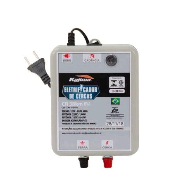 Eletrificador Rural Cerca Elétrica Kajima CR 38Km Bivolt   - Casafaz