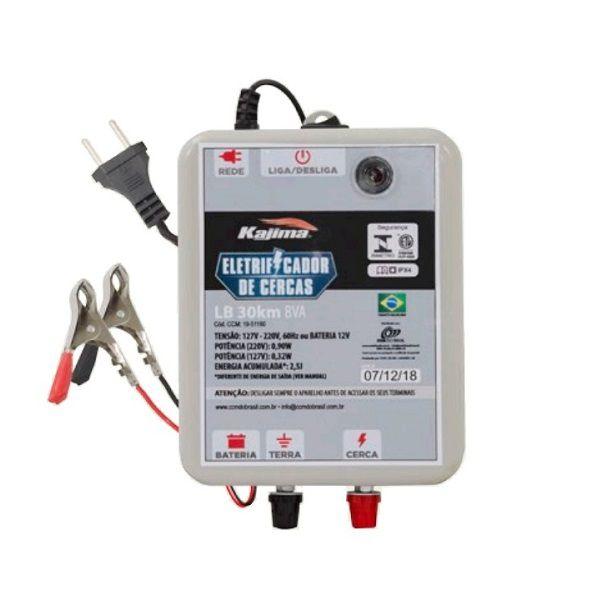 Eletrificador Rural Cerca Elétrica Kajima LB 30Km Bivolt E 12V