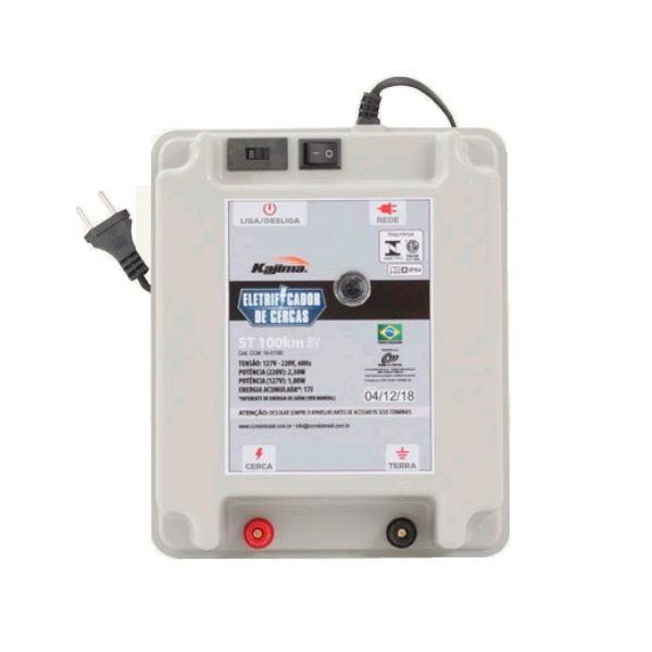 Eletrificador Rural Cerca Elétrica Kajima ST 100Km Bivolt