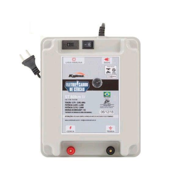 Eletrificador Rural Cerca Elétrica Kajima ST  80Km Bivolt