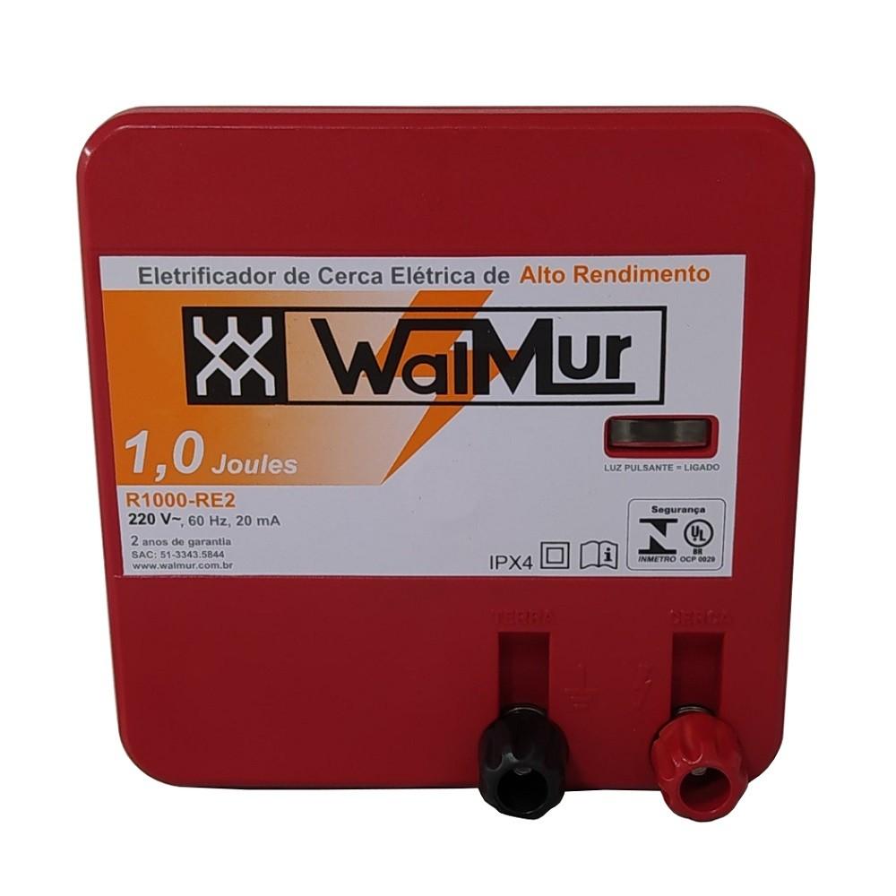 Eletrificador Rural Cerca Eletrica Profissional R1000-RE2 220V