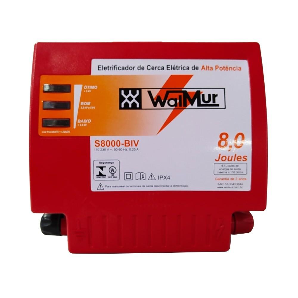 Eletrificador Rural Cerca Eletrica Profissional S8000 Biv