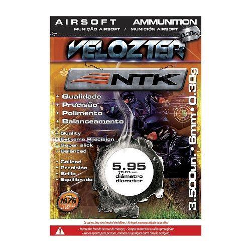 Esferas para Airsoft 0,30g 6mm Velozter 3500 Unds Nautika   - Casafaz