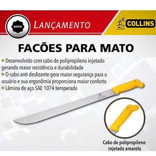 Facão Mato 16 Polegadas Collins + Bainha Sola   - Casafaz
