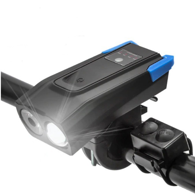 Farol de Bike 800 Lumens e 4000mAh Blue Light + Buzina Victgoal