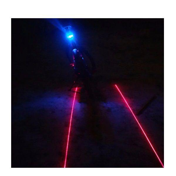 Farol Lanterna Traseira Bike Com Ciclovia Laser Sinalizador E Farol De Led Azul  - Casafaz