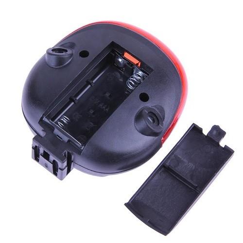 Farol Lanterna Traseira Bike Com Ciclovia Laser Sinalizador E Farol De Led Vermelho DW-681  - Casafaz