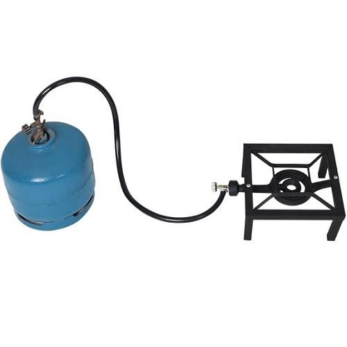 Fogareiro Fogão Aço Rustic 33,5 X 24,5 X 12cm Mor  - Casafaz