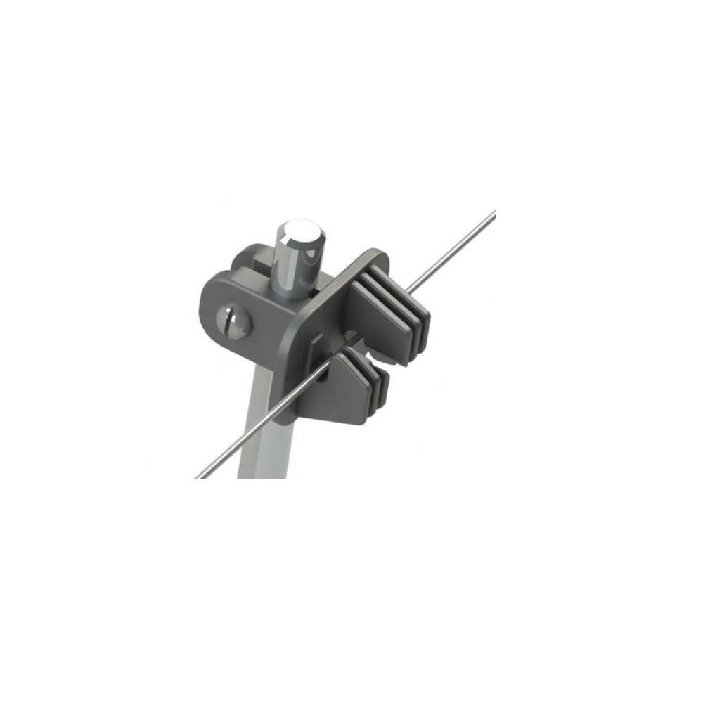 Isolador Cerca Eletrica p/ Linha W + Parafuso p/ Poste 3/8 - 25 Unds