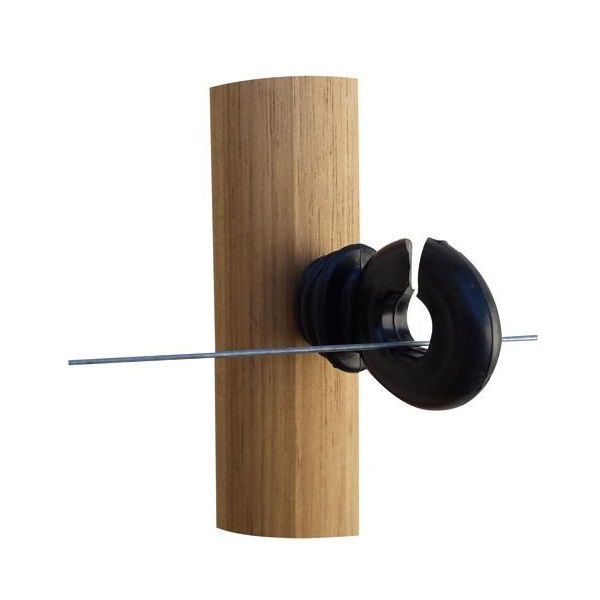 Isolador Com Parafuso Para Mourão De Madeira Cerca Elétrica 25 Unidades  - Casafaz