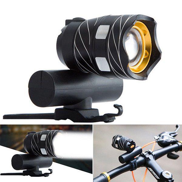 Lanterna Farol Bike Led T6 15000 Lumens Recarregável USB Com Suporte   - Casafaz