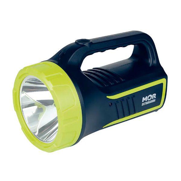 Lanterna Holofote Power Led 265 Lúmens Recarregável Bivolt Mor