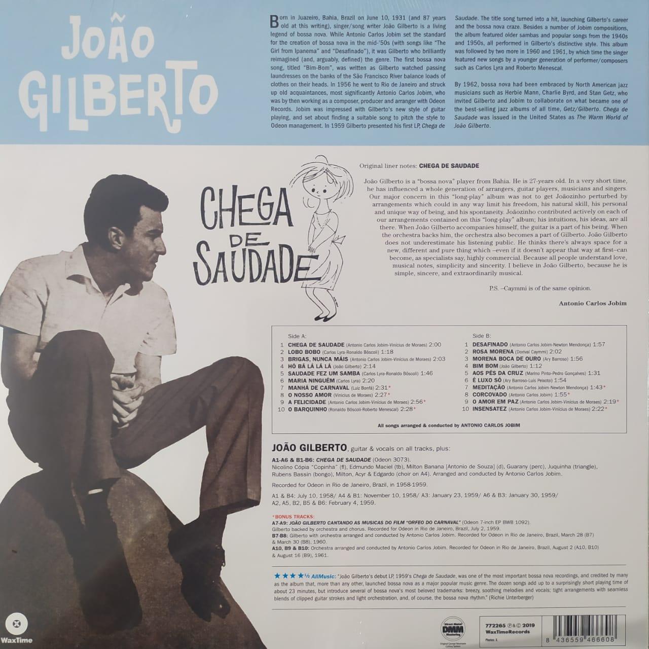 Lp João Gilberto Chega De Saudade Reedição 2018 180g  - Casafaz