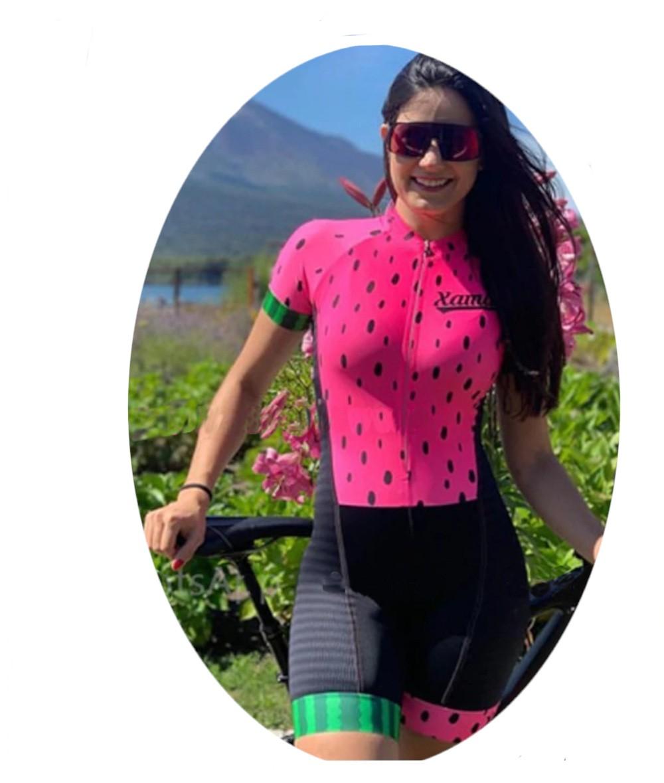 Macaquinho Ciclismo Feminino Manga Curta  - Casafaz