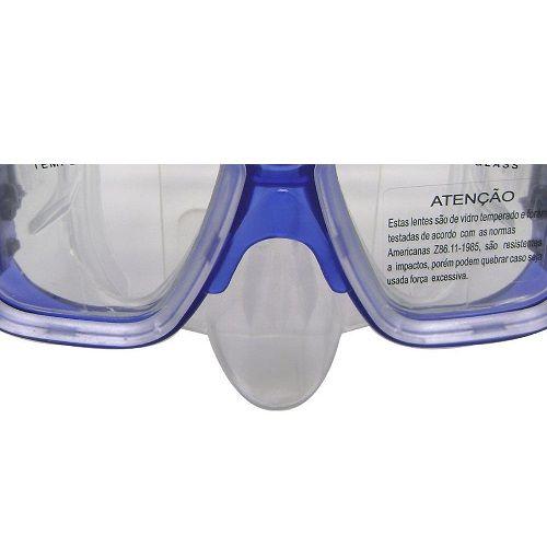Máscara de Mergulho X-Dive Nautika Azul   - Casafaz