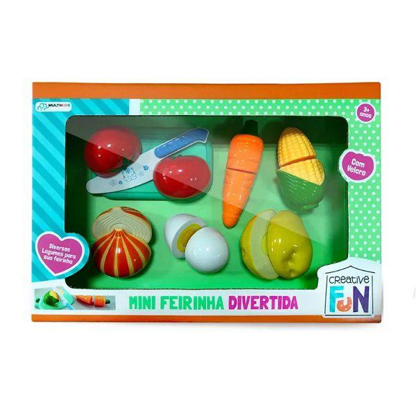 Creative Fun Mini Feirinha Divertida 6 Legumes Multikids - BR1108  - Casafaz