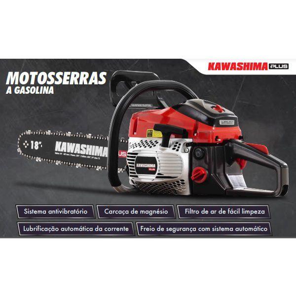Motosserra Kawashima Plus KCS 500P 49,3 CC Sabre 18 Polegadas  - Casafaz