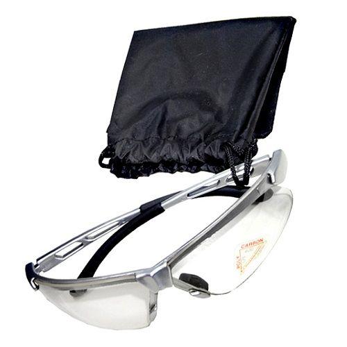 Óculos Ciclismo Bike Lente Transparente HSL392 Armação Prata Hweison + Estojo