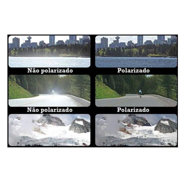 Óculos Ciclismo Bike MTB 9301 Esportes Polarizado Uv400 Preto/Amarelo + Case  - Casafaz
