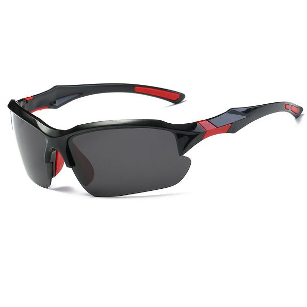 Óculos Ciclismo Bike MTB 9301 Esportes Polarizado Uv400 Preto/Vermelho + Case