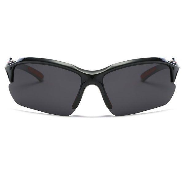 Óculos Ciclismo Bike MTB 9301 Esportes Polarizado Uv400 Preto/Vermelho + Case  - Casafaz