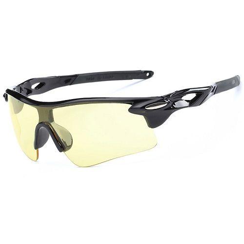 Óculos Ciclismo Bike MTB 9181 Esportes Uv 400 Amarelo + Case