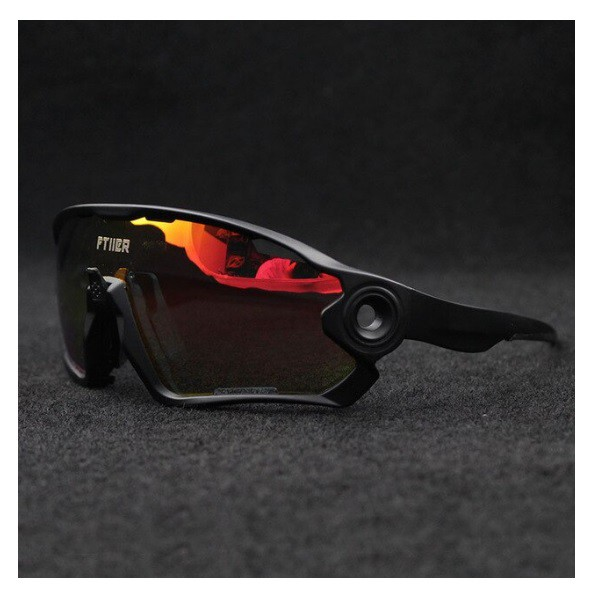 Óculos Ciclismo Ftiier Polarizado 5 Lentes + Case
