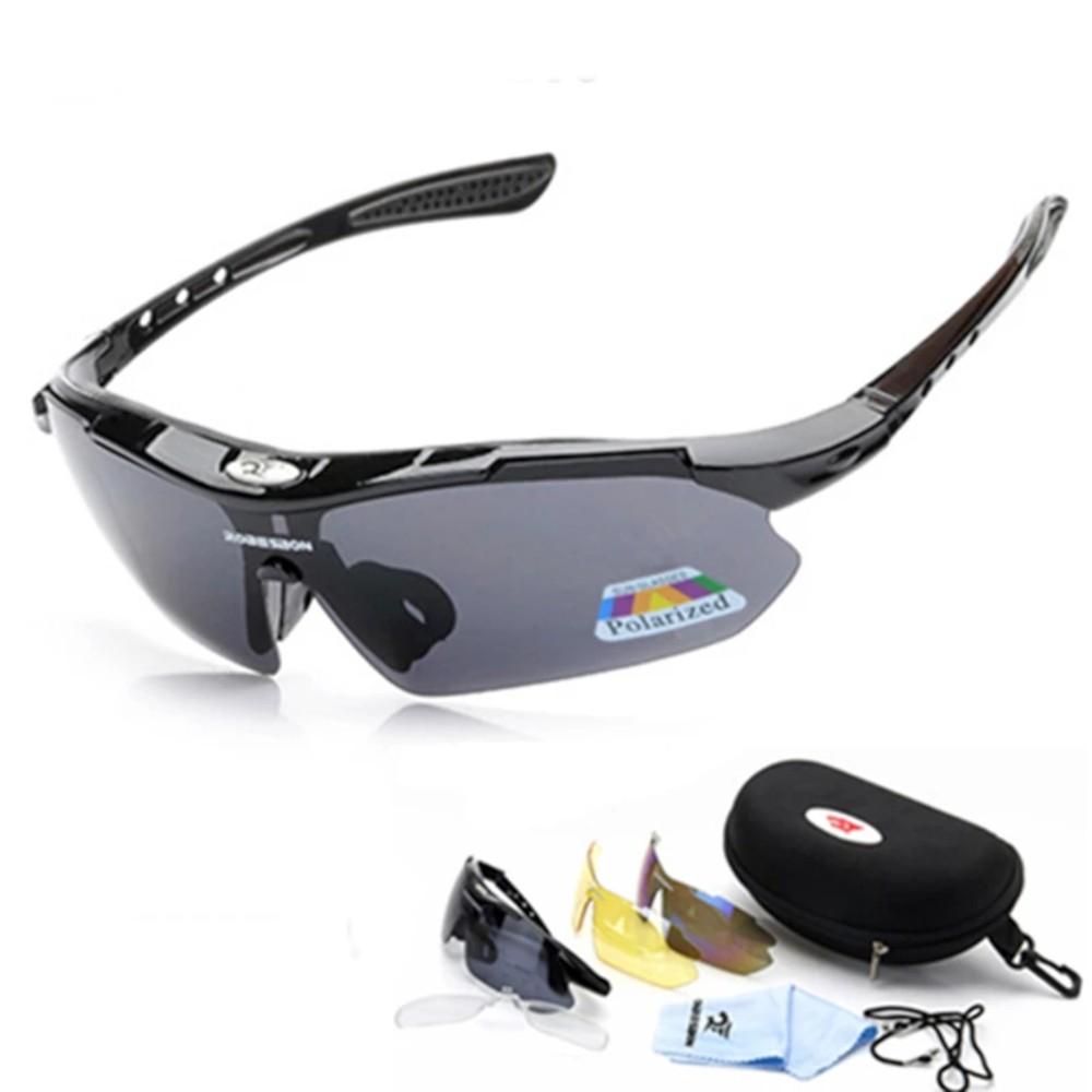 Óculos Ciclismo Esportes Polarizado 3 Lentes Robesbon + Clip Lente De Grau