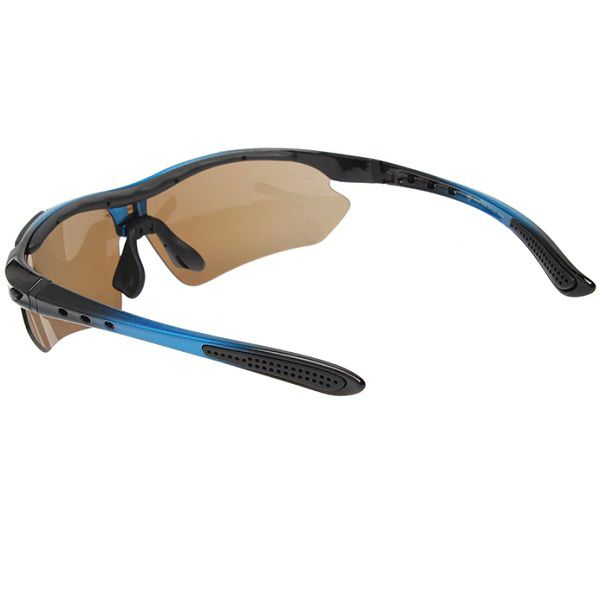 196334ae3 ... Óculos Ciclismo Esportes Polarizado Azul 5 Lentes Rockbros + Clip Lente  De Grau - Casafaz ...