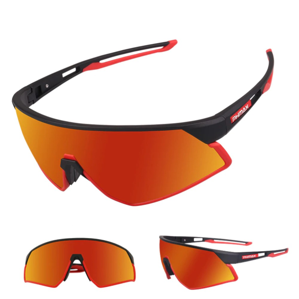 Óculos Ciclismo PhMax Polarizado 3 Lentes TR90