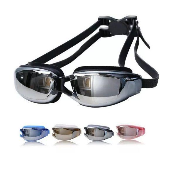 Óculos de Natação Profissional Proteção Uv + Case