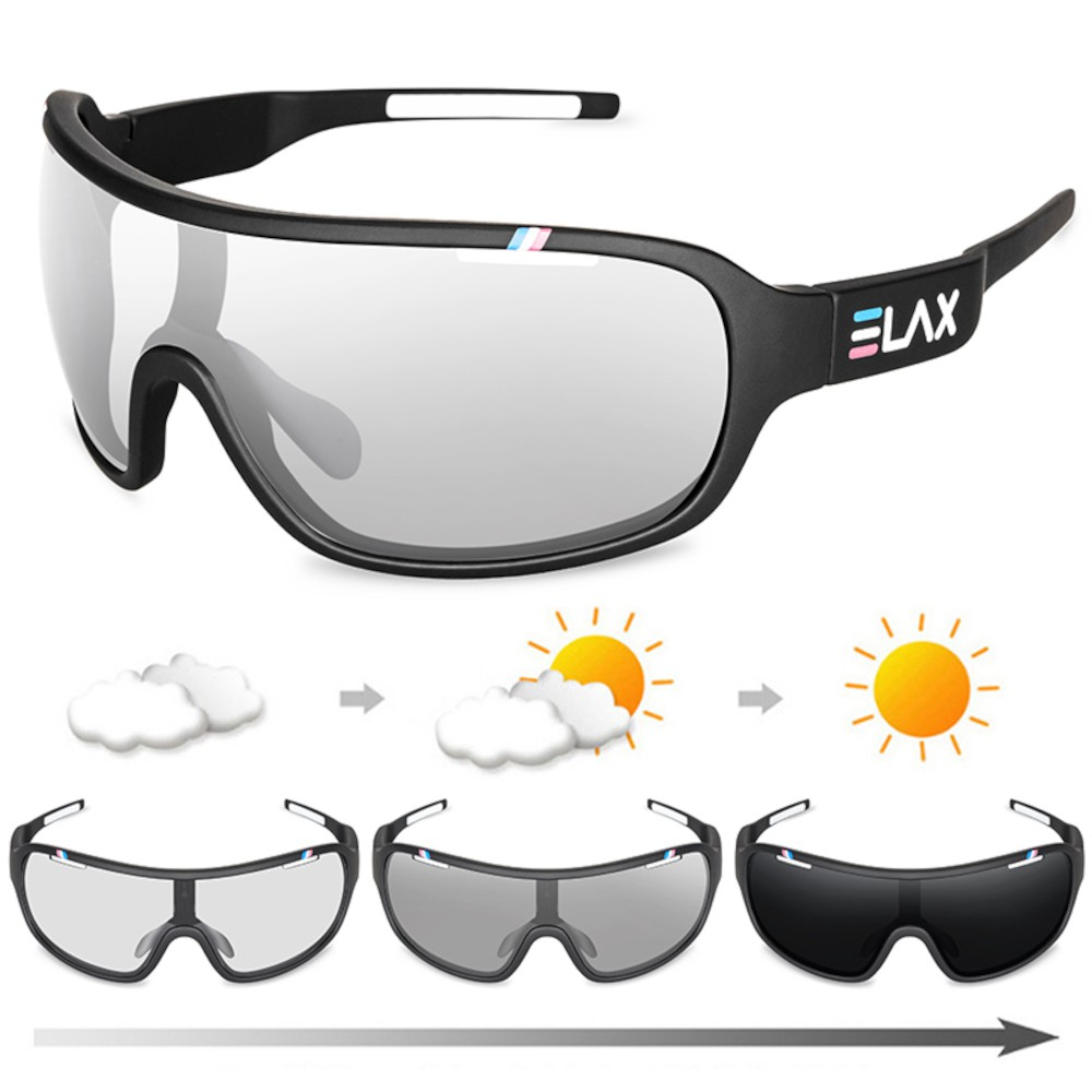 Óculos Elax Fotocromático UV400 Pesca Ciclismo Oculos de Sol