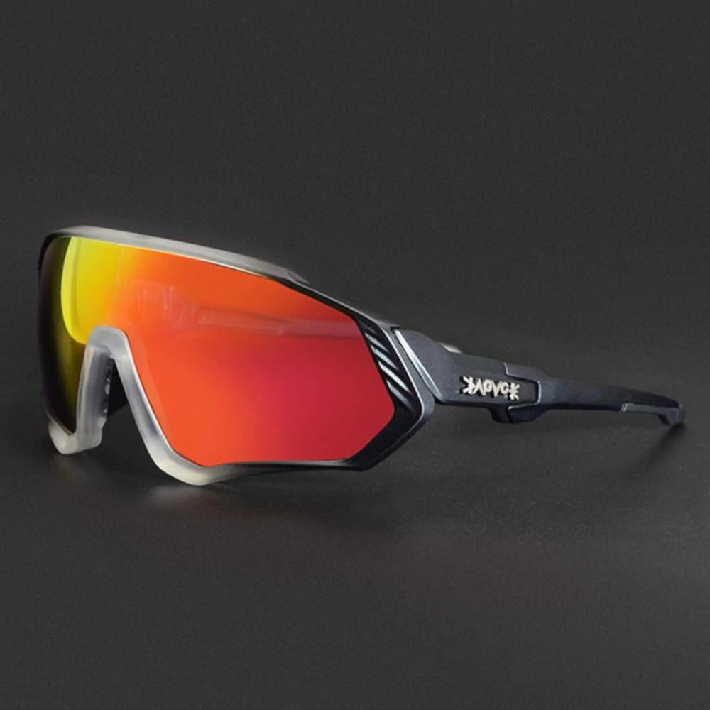 Óculos Polarizado Ciclismo Kapvoe 5 Lentes + Case + Clip  - Casafaz