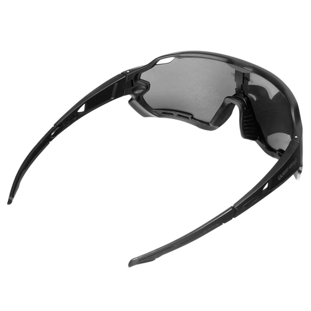 Óculos Polarizado Ciclismo Queshark QE44 4 Lentes + Case  - Casafaz