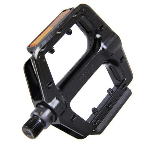 Pedal Free Style FP-922 Alumínio Preto Com Refletor Inglês  - Casafaz