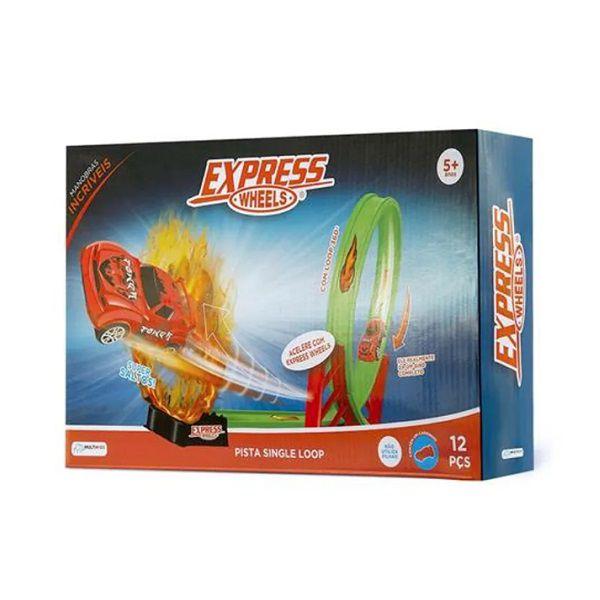 Pista Single Loop 360º Express Wheels 12 Peças Multikids - BR1017