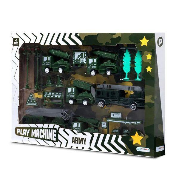 Play Machine Exército Forças Armadas Verde Multikids - BR973