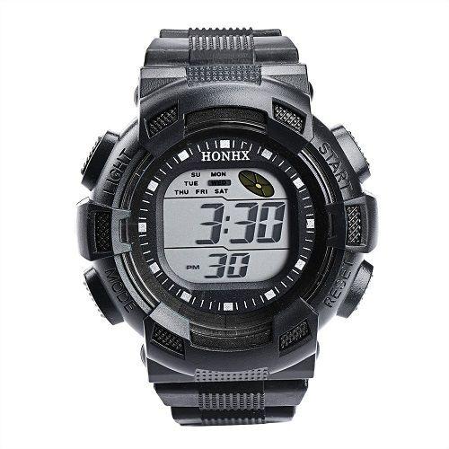 Relógio Esportivo Digital Honhx Preto  - Casafaz